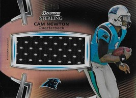 2012 Bowman Sterling Black Jumbo Veteran Relics #BSJVR-CN Cam Newton NM-... - $34.99