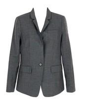 J Crew Women's Regent Blazer in Super 120s Wool Sz 4 F5642 Grey - $137.99