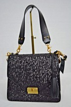 NWT HTF Brahmin Ophelia in Holiday Party Shoulder Bag in Black Leather &... - $269.00