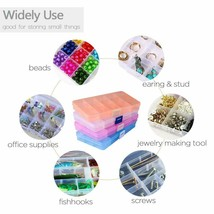 4 Pack Plastic craft or jewelry Box (15 grids) with Movable Dividers - $15.14