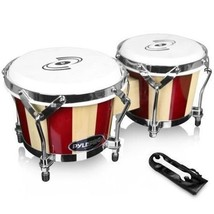 Wooden Bongos Drums Hand Crafted Percussion Tabletop Folk Musical Instru... - $64.99