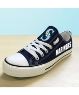 Seattle mariners shoes women mariners sneakers baseball fans fashion can... - $59.99+