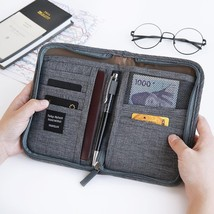 Travel Case Passport Credit Card Holder Bag Multifunctional Fabric Walle... - $17.84