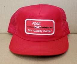 Fore Way Express Inc. Patch Mesh Foam Snapback Trucker Hat (Red) - $20.89