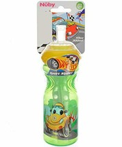 NUBY BPA FREE 10 oz Sport Sipper Straw cup bottle - Wheelz - $11.29