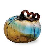 Gallery Glass Pumpkins - Medium Glass Pumpkin - Blue by Boston Internati... - $32.62