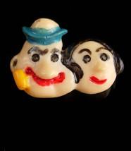 Vintage Popeye brooch - Olive Oyl handpainted pin - cartoon character - ... - $45.00