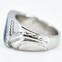 Geometric Square Triangle Color Changing Contrasting Silver Painted Mood Ring image 5