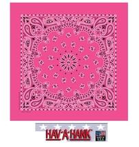 USA MADE Hav-A-Hank FUSCHIA PINK PAISLEY Bandana BANDANNA SCARF Scarve H... - $5.99