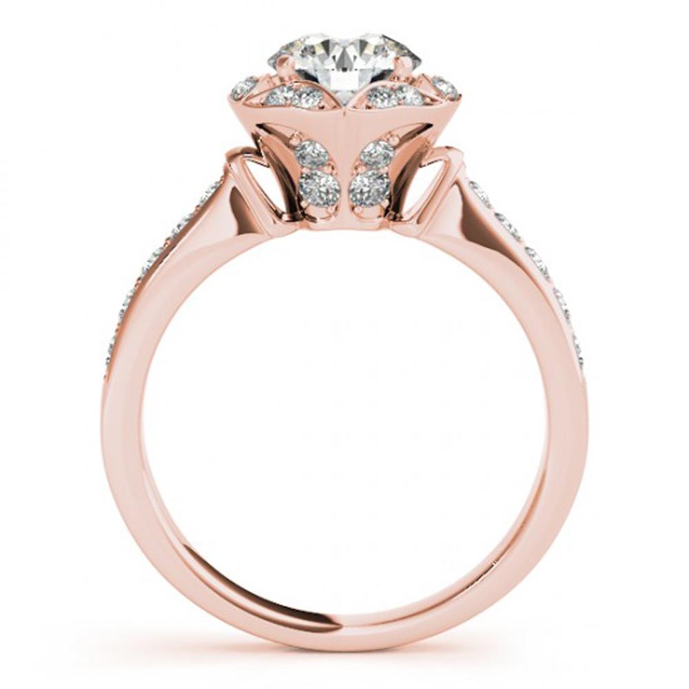 10k Rose Gold Plated 925 Silver Round Cut White Sim Diamond Women's Wedding Ring