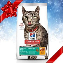 Hill's Science Diet Dry Cat Food, Adult, Perfect Weight for Healthy Weight & Wei