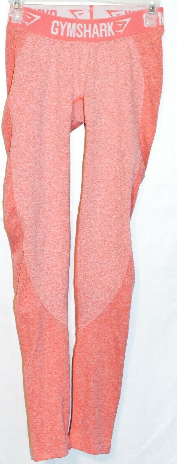 Gymshark Women's Marl Peach Pink Flex Low Rise Body Contouring Leggings Size S