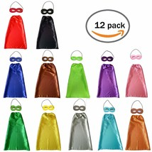 YIISUN Childs Cape Kids Capes and Masks Birthday Party Dress up 12 Pack - $40.09