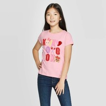 Girls' Nickelodeon Jojo Valentines Day Short Sleeve T-Shirt - Pink S - $9.98