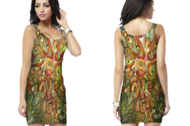 Psychedelic EYES DMT Bodycon For Women - €20,83 EUR+