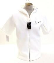 Nike Therma White Short Sleeve Zip Front Training Hoodie Men's NWT - $105.74
