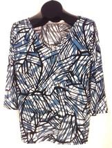 SLINKY BRAND WOMEN'S BLUE TOP SHIRT MEDIUM - $8.98