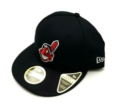 New Era Cleveland Indians 59Fifty 2018 Low Profile Fitted Hat Navy Size ... - $30.00