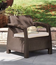Keter Corfu Armchair Outdoor Patio Furniture All Weather Patio Furniture - $106.91