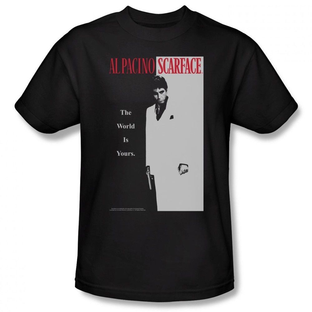 Primary image for SCARFACE CLASSIC MOVIE POSTER AL PACINO ADULT T-SHIRT NEW uni682