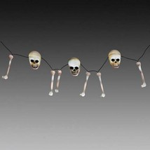 6' Lighted Rattling Skeleton Bones String Lights Battery Operated New Ha... - $25.73