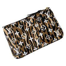 NEW Louis Vuitton Pochette Double Zip Black Jungle Giant Monogram Crossbody Bag image 5