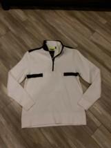 DKNY Jeans Modern Sport Fleece Pullover 1/4 Button Up Longsleeve Mens Small - $45.00
