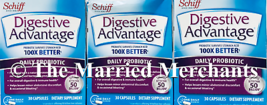 (3) Schiff Digestive Advantage Daily Probiotic 30 capsules each 10/2021 FRESH! - $19.88