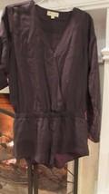 Anthropologie Cloth & Stone Long Sleeve Grey Romper Sz S - $58.41