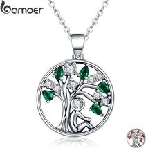 BAMOER 925 Sterling Silver Tree of Life Ladies / Women's Pendant / Neckl... - $20.50