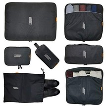 7 Pcs Packing Cubes with Toiletry Bag and Electronic Accessories Organiz... - $713,51 MXN