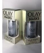 2X Olay Masks Pore Detox Black Charcoal Clay Stick Face Mask 1.7 oz Each - $11.60