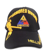 US Army Hat 2nd Armored Division Hell On Wheels Black Adjustable Cap - $12.95