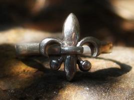 Haunted Cleansing start fresh Magick ring Fleur De Lis wealth health hap... - $55.00