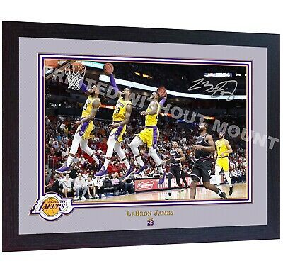 *** LeBron James Los Angeles Lakers signed autographed photo print NBA Framed