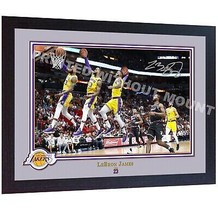 *** LeBron James Los Angeles Lakers signed autographed photo print NBA F... - $21.45