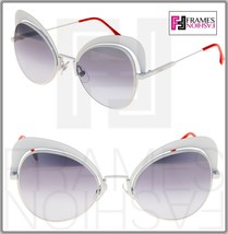 FENDI EYESHINE FF0247S White Coral Mirrored Metal Sunglasses Round Runwa... - $222.75