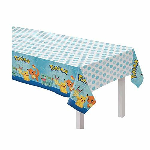 Primary image for amscan Pokemon Design Plastic Table Cover- 1pc, Multicolor, one size
