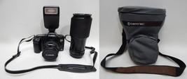 Canon EOS Rebel 35mm Film Camera zoom 70-210mm 35-80mm lens Speedlite 20... - $54.44