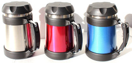 3 x Brentwood Food Jar Double Wall Stainless Steel Vacuum Flask Thermos ... - $31.99