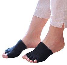 PANDA SUPERSTORE Women's Half Palm Stealth Socks Five Fingers Floor Socks 1 Pair