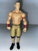 2013 Mattel John Cena Wrestler WWE Wrestling Action Figure Red Wrists - $6.44
