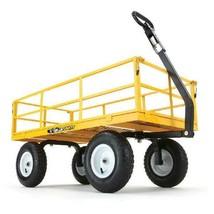 1,200 Lb Heavy Duty Steel Yard Cart with Wheels Tires Garden Lawn Utilit... - $3.746,26 MXN