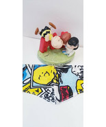 3x PEANUTS snoopy Face mask filter pocket toon comic strip funnies adult... - $6.91