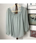 I N C International Concepts Women's XL Green Flowing Lined Blouse NWOT - $10.36