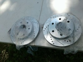 Nakamoto N-18422 Left /right Brake rotorsDrilled Min THK 18.5mm Max Dia. 229.2mm image 1