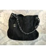 CHANEL Black  Suede Shoulder Bag - $2,730.42
