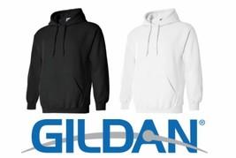 8 Hooded Sweatshirts 4 Black 4 White Bulk Lot S-XL Gildan Hoodie Wholesale G185 - $100.91
