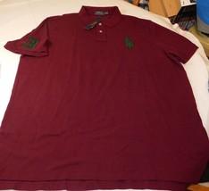 Polo Ralph Lauren Short Sleeve Polo Shirt XXL Classic Fit 176005 Burgandy Green - $54.44