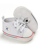 White Canvas Baby Walking Casual Shoes Infant Soft Bottom Toddler Shoes ... - $16.99